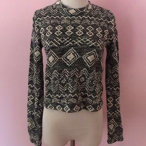 Long Sleeved Geometric Sweater